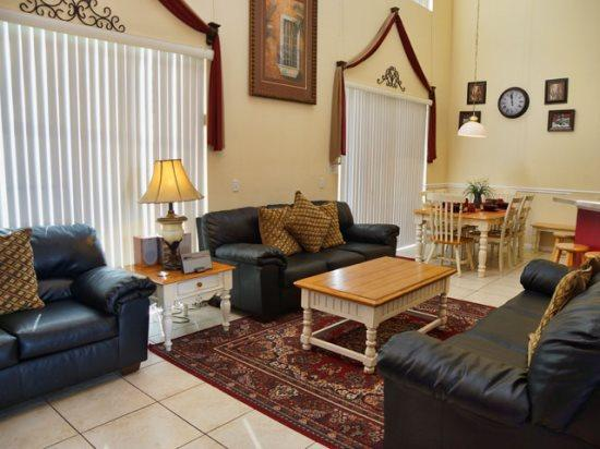 Living Area - CL7P2525CLC 7 BR Holiday Villa With Lake View - Orlando - rentals