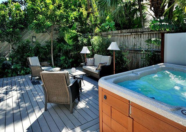 Comfortably furnished, beautifully landscaped, deck with a hot tub - Lennon's Lodge - Luxury Vacation Home - Private Hot Tub - 1 Block To Duval St - Key West - rentals