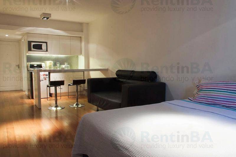 Sunny Studio w/ Wi-Fi, Balcony, Doorman, Pool, Sauna, Gym & More (ID#24) - Image 1 - Buenos Aires - rentals