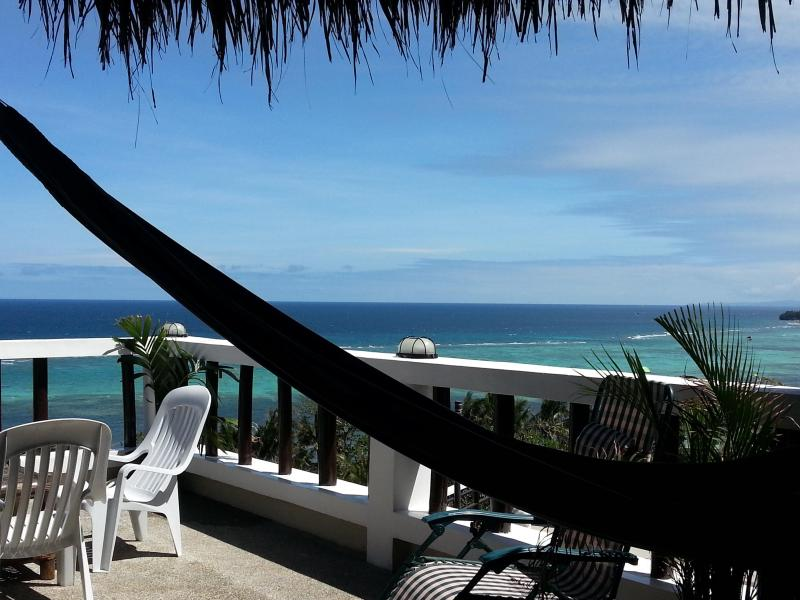UPSTAIRS APARTMENT: View from the livingroom - Fantastic oceanview! Quiet/central sleeps up to 5! - Boracay - rentals