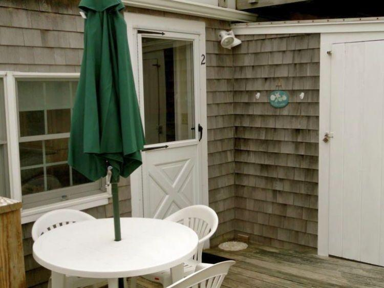 Enjoy the outside patio for cook outs - 103 North Shore Blvd unit 2 - East Sandwich - rentals