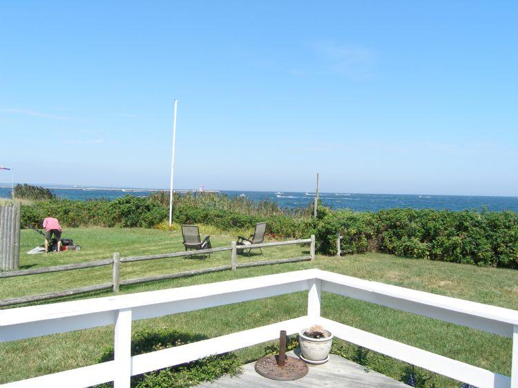 View of the beach from the deck - 39 Freeman Ave - Sandwich - rentals