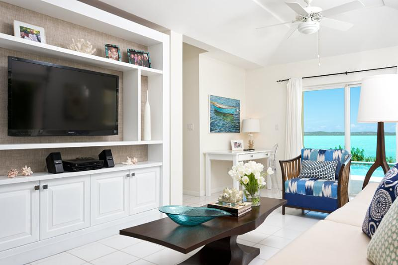 Newly renovated LR with custom furniture - Bright Idea - Chalk Sound waterfront rental - Providenciales - rentals