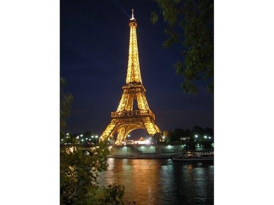 Eiffel Tower at night from the Seine - Nany's Paris Apartment Close to Champ Elysees - Paris - rentals