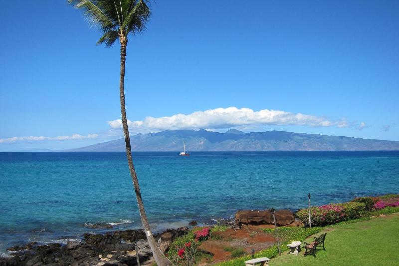 This is YOUR postcard view from YOUR private lanai. Unbeatable! - Panoramic Oceanfront 3BR-Awesome Sunsets & Views! - Lahaina - rentals