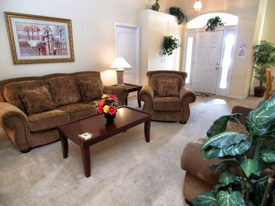 Living Area - TR4P931DD 4 BR Holiday Villa with Games Room, WIFI, Pool and Spa - Davenport - rentals