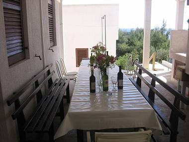 A4(3): common terrace - 00404RUKA A4(3) - Cove Rukavac - Rukavac - rentals