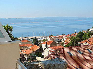 A2(2+2): terrace view - 01813BVOD A2(2+2) - Baska Voda - Baska Voda - rentals