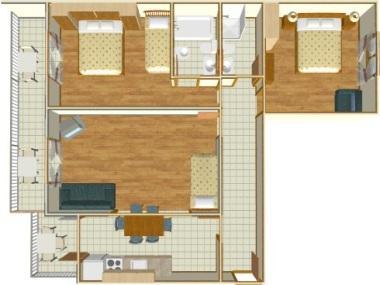 A2(4+2): floor plan - 02513BREL  A2(4+2) - Brela - Brela - rentals