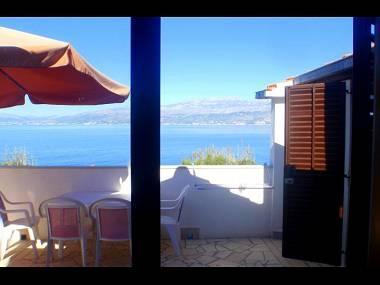 A1(4): terrace view - 00501SPLI A1(4) - Splitska - Splitska - rentals