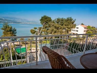 A1(6+1): terrace view - 00112TROG  A1(6+1) - Trogir - Trogir - rentals
