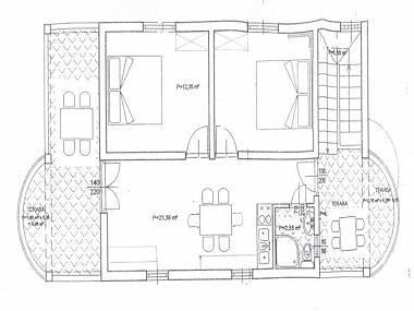 A1(4+1) gornji: floor plan - 00718NIN  A1(4+1) gornji - Nin - Nin - rentals