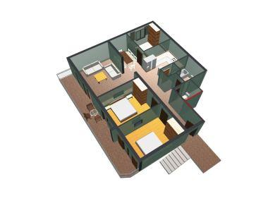 A2(4+2): floor plan - 01413MAKA A2(4+2) - Makarska - Makarska - rentals