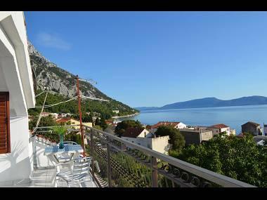 A4(4+1): terrace view - 00313GRAD  A4(4+1) - Gradac - Gradac - rentals