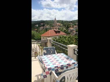 A1(4+1): terrace view - 002SPLI A1(4+1) - Splitska - Splitska - rentals