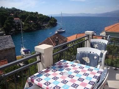 A2(4+1): terrace view - 002SPLI A2(4+1) - Splitska - Splitska - rentals