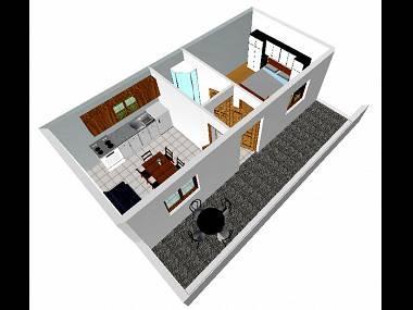 A3(2+1): floor plan - 001ARBA  A3(2+1) - Mastrinka - Mastrinka - rentals