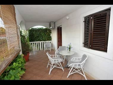 A3(2): covered terrace - 04901SUPE  A3(2) - Supetar - Supetar - rentals