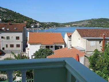A1(4): terrace view - 01110TISN  A1(4) - Tisno - Tisno - rentals