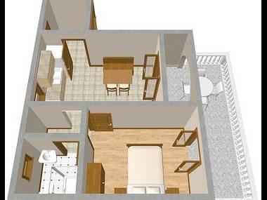 A4(2+2): floor plan - 2112 A4(2+2) - Novi Vinodolski - Novi Vinodolski - rentals