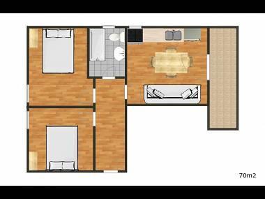 A5(4+1): floor plan - 0212OKRG  A5(4+1) - Okrug Gornji - Okrug Gornji - rentals