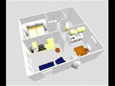 A1(3+1): floor plan - 0712ARBA A1(3+1) - Mastrinka - Mastrinka - rentals