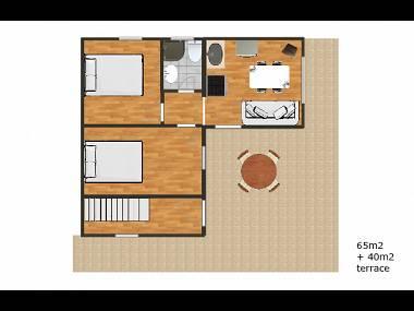 A6(4+1): floor plan - 0212OKRG  A6(4+1) - Okrug Gornji - Okrug Gornji - rentals
