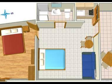 A2(2+2): floor plan - 002A13TUCE  A2(2+2) - Tucepi - Tucepi - rentals