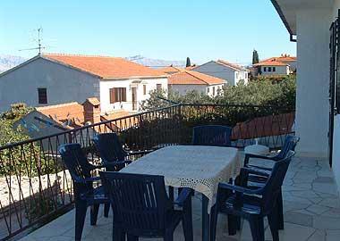 A1(6): terrace - 00801SUPE A1(6) - Supetar - Supetar - rentals