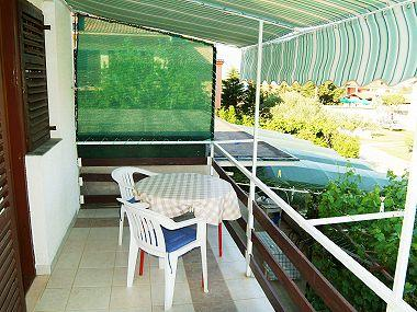 A4(2+1): covered terrace - 00918NIN A4(2+1) - Nin - Nin - rentals