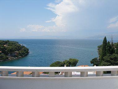 SA2(2+1): terrace view - 02101SPLI SA2(2+1) - Splitska - Splitska - rentals