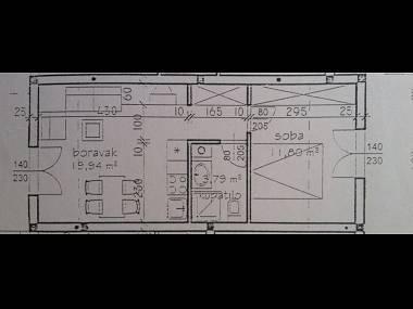A2 Plavi(2+1): floor plan - 06503HVAR A2 Plavi(2+1) - Hvar - Hvar - rentals