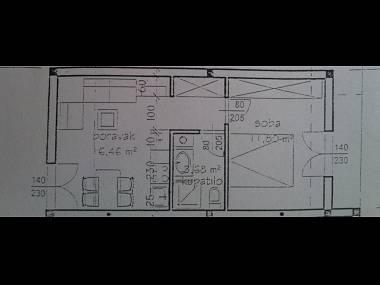 A3 Zeleni(2+1): floor plan - 06503HVAR A3 Zeleni(2+1) - Hvar - Hvar - rentals