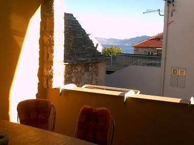 A1 donji (5): terrace view - 02201POST  A1 donji (5) - Postira - Postira - rentals