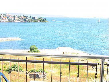 A3(2+2): balcony view - 00205TROG A3(2+2) - Seget Vranjica - Seget Vranjica - rentals