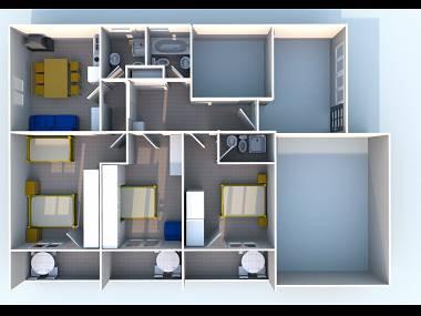 A1(6): floor plan - 02313MAKA A1(6) - Makarska - Makarska - rentals