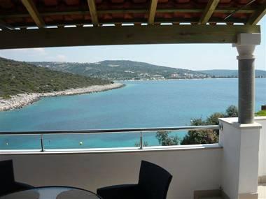A3(4+1): terrace view - 2302 A3(4+1) - Cove Ostricka luka (Rogoznica) - Cove Kanica (Rogoznica) - rentals