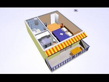 SA3(2+1): floor plan - 02017OREB SA3(2+1) - Orebic - Orebic - rentals