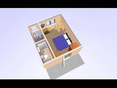 SA5(2): floor plan - 02017OREB SA5(2) - Orebic - Orebic - rentals