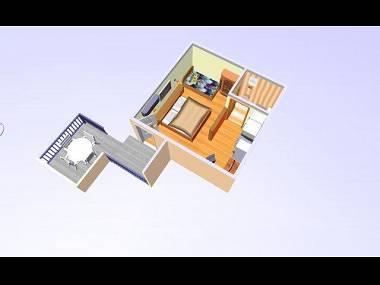 SA4(2+1): floor plan - 02017OREB SA4(2+1) - Orebic - Orebic - rentals