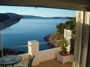 SA2-Plavi(2+1): terrace view - 03902STOM  SA2-Plavi(2+1) - Stomorska - Stomorska - rentals