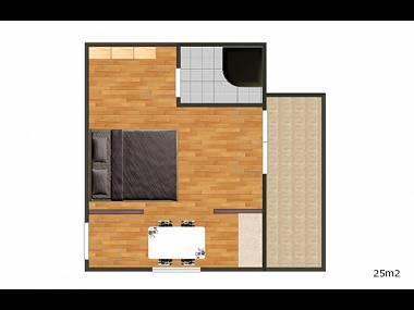 SA2(2): floor plan - 0212OKRG  SA2(2) - Okrug Gornji - Okrug Gornji - rentals