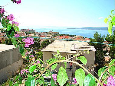 SA2(2+1): terrace view - A01413BVOD  SA2(2+1) - Baska Voda - Baska Voda - rentals