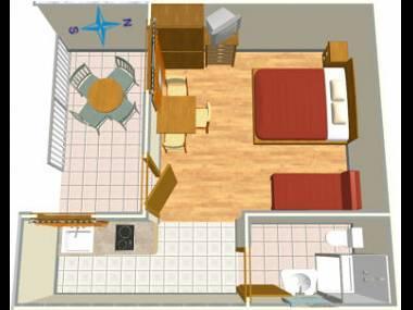 A3(3): floor plan - 002A13TUCE  A3(3) - Tucepi - Tucepi - rentals