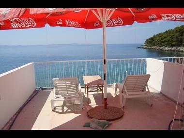 Mini(3+2): terrace - 001GDIN  Mini(3+2) - Cove Skozanje (Gdinj) - Cove Skozanje (Gdinj) - rentals
