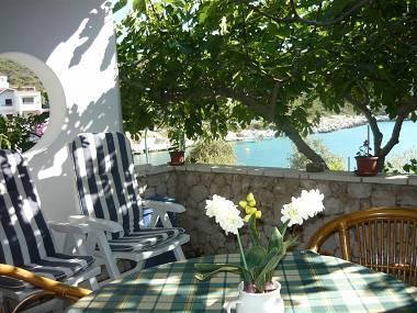 A1(2+1): terrace view - 2302 A1(2+1) - Cove Ostricka luka (Rogoznica) - Cove Kanica (Rogoznica) - rentals