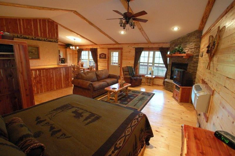Rustic but contemporary charm! - Lake Forest Cabins ,Beaver Lake Area 2-10 people - Eureka Springs - rentals