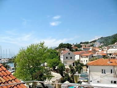 A5(2+1): terrace view - 2544  A5(2+1) - Baska Voda - Baska Voda - rentals