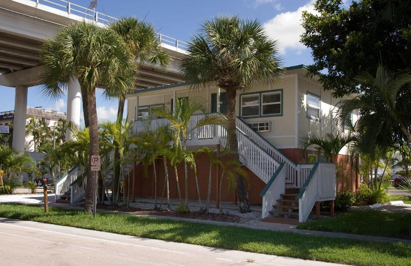 Exterior view from second st. - Times Square/downtown  newly furnished studio - Fort Myers Beach - rentals