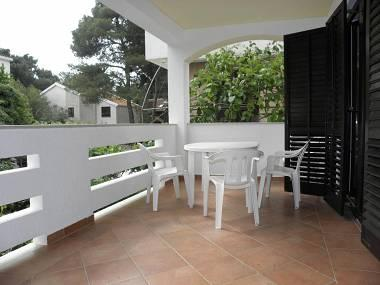 A1(4+2): covered terrace - 2556 A1(4+2) - Petrcane - Petrcane - rentals